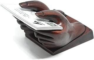NaCraftTH Business Card Holder Hand Figure Display Polyresin Countertop Office Restaurant Home Decor
