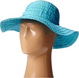 Scala crushable big brim ribbon sun hat 5e4a5193019