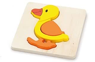Shape Block Puzzle-Duck-Wooden Educational Toys