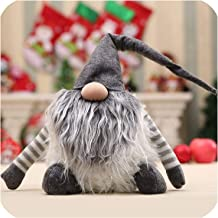 Luuvy-shop Cartoon Christmas Decoration Old Man Doll Doll Faceless Doll Plush Toy Creative Children Gift,Gray