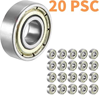 608 ZZ Skateboard Bearings, Sackorange 608zz Double Shielded,8x22x7 Miniature Ball Bearings 20 psc