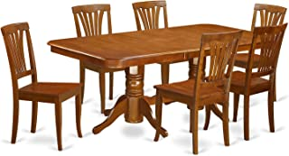 East West Furniture 7-Piece Formal Dining Table Set