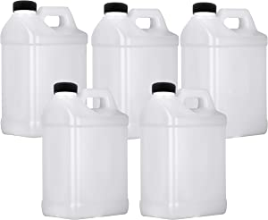 Mountain View 1 Gallon Plastic Jug, Storage Containers, HDPE, 5 Pack
