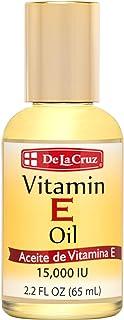 De La Cruz Vitamin E Oil 15,000 IU, No Preservatives, Artificial Colors or Fragrances, Made in USA 2.2 FL. OZ.