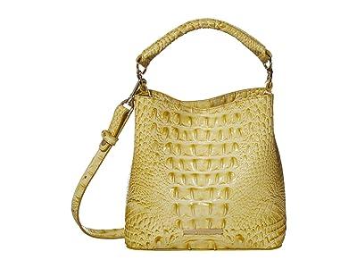 Brahmin Melbourne Mini Amelia Crossbody (Lemonade) Handbags