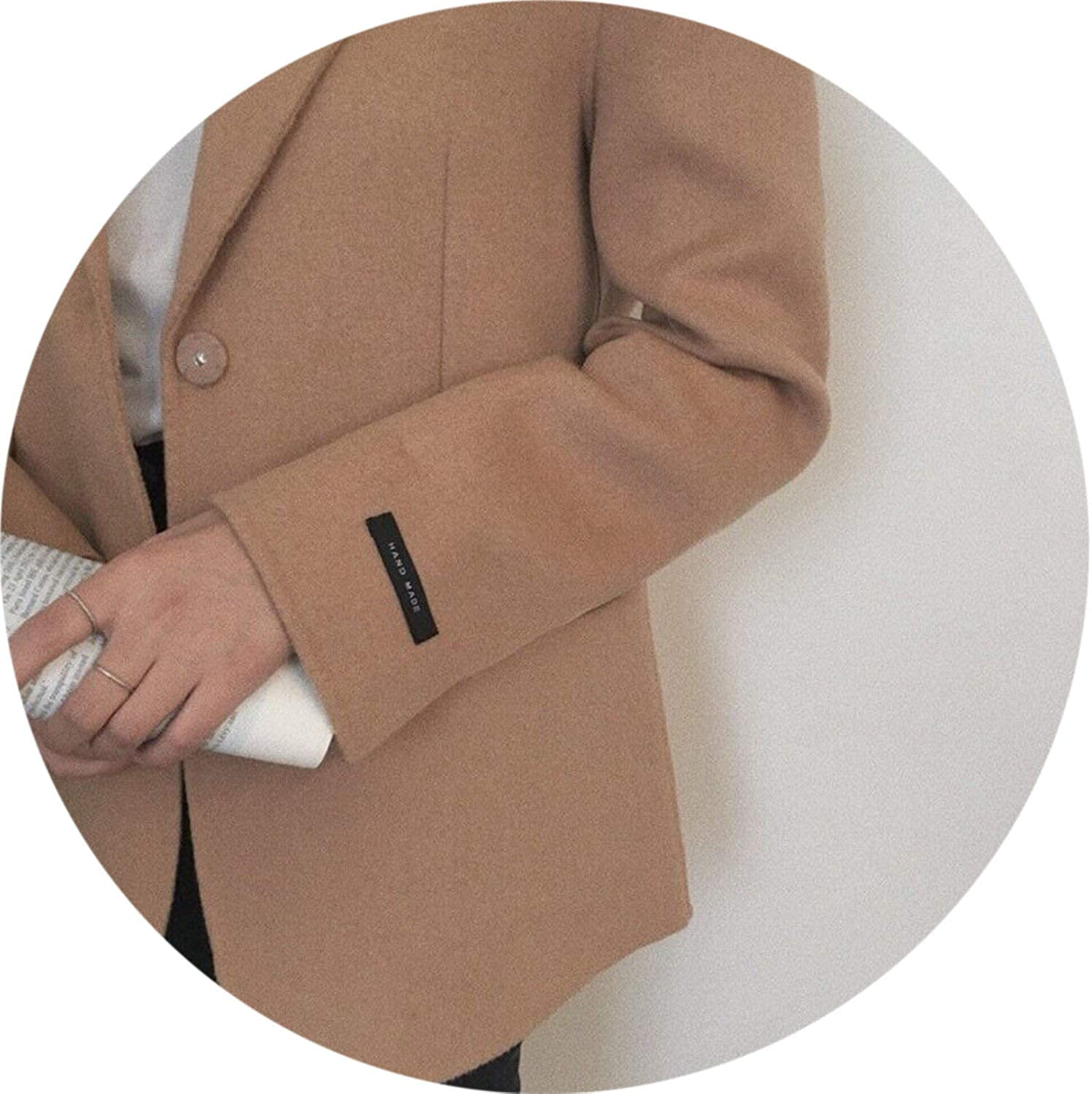 100Expectations fashion coat Elegant Wool Suit Autumn Winter New Suit Jacket Office Lady Casual Woolen Jacket
