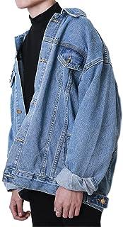 جاكيت جينز رجالي كاجوال بأزرار سفلية لسائقي الشاحنات من HotMiss
