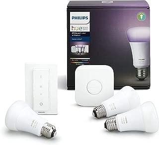 Philips Hue Color Ambiance Hub Starter Kit - Screw Bulbs + Dimmer