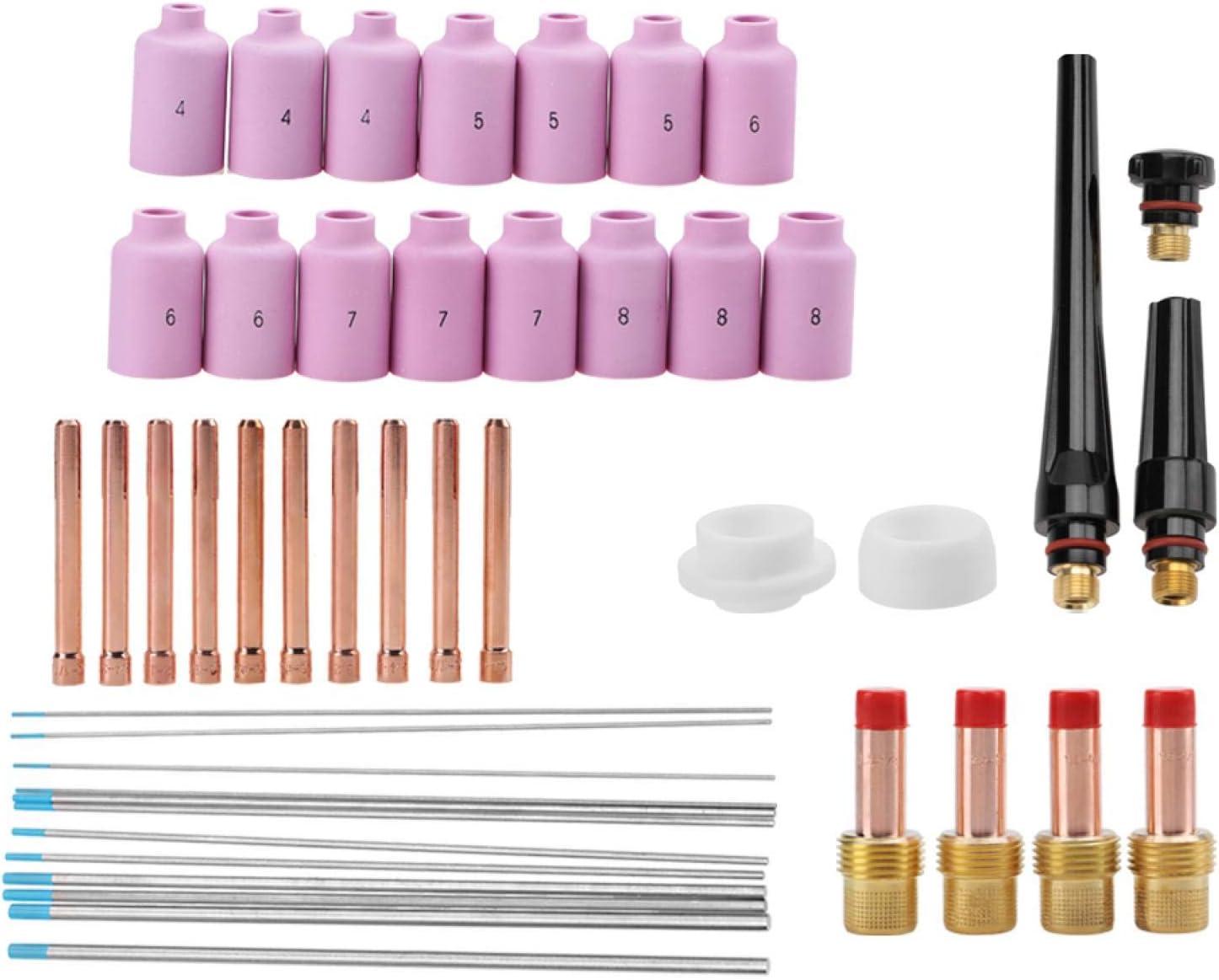 TIG Consumables Ceramic Dedication Welding Torch 46pcs for Parts 816g Max 87% OFF