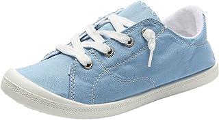 Zeildoekschoenen dames lage top gymschoenen loafers sneakers zomerschoenen canvas platte schoenen slip-ons vrijetijdsschoe...