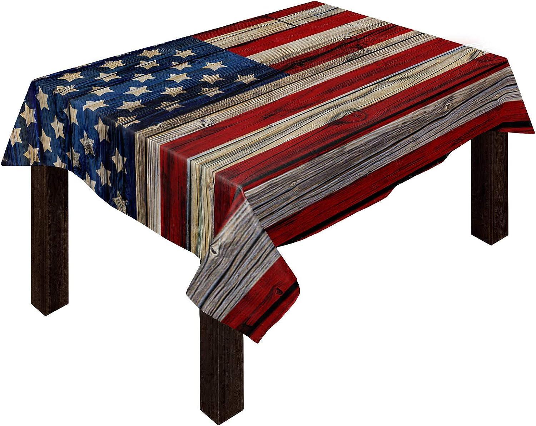 ギフト Independence Day 毎週更新 Cotton Linen Tablecloth United F Vintage States