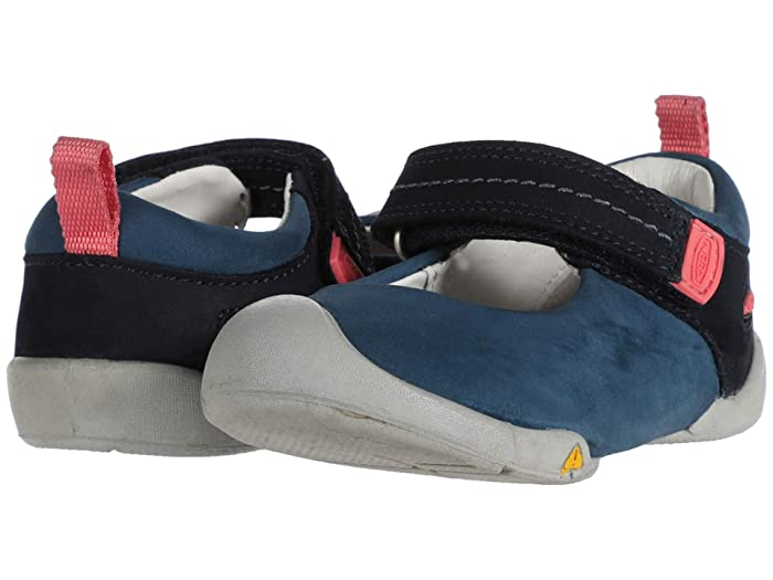 Keen Kids  Pep Mary Jane (Toddler) (Dress Blues/Sugar Coral) Girls Shoes