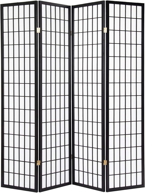 Giantex 4 Panel Folding Privacy Screen Room Divider Shoji Screen Living Room Bedroom Furniture