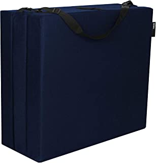 American Furniture Alliance Hide A' Mat 3.5 x 30 x 75 inch Jr Twin TriFold Mattress, Navy