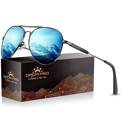 2b5e48ac16 Mens Sunglasses Polarized Women Sun glasses - Dada-Pro Brand Designer  Mirrored Retro Pilot Shades