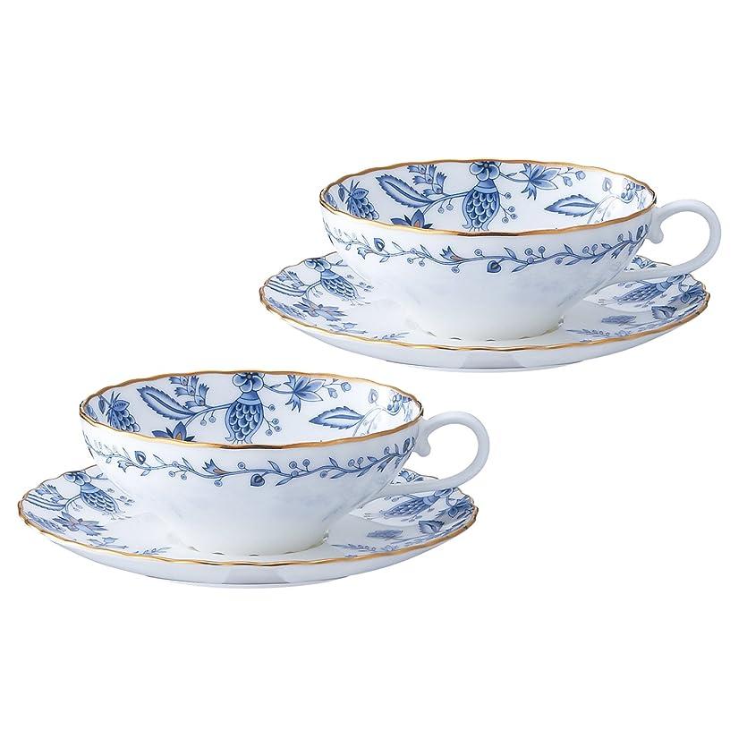 絞るホームレスワイプNoritake(ノリタケ) ボーンチャイナ ブルーソレンティーノ ティー碗皿 ペアセット P58043A/4562
