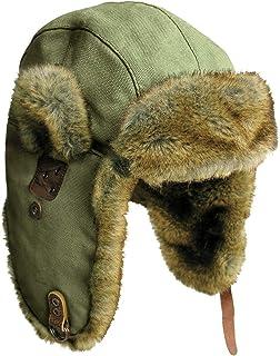 watch 94068 4ad6f Canvas Winter Rabbit Fur Aviator Outdoor Trapper Trooper Pilot Ski Hat    Kakadu Australia