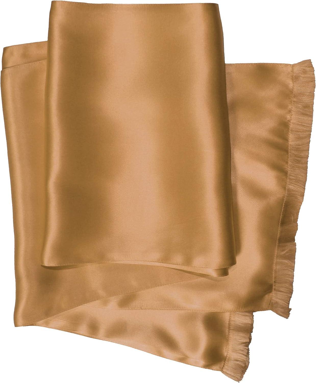 Classic Silk Aviator Scarf for Men - Double Layered 100% Satin Silk - Royal Silk