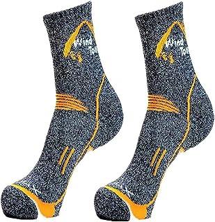 Rayami Unisex Breathable Trekking Socks, Coolmax Hiking Lightweight Crew Socks, High Performance Cushion Climbing Socks, S...