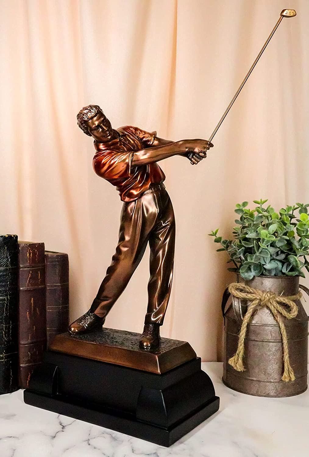 Zen Pro Golfer Swinging Shipping included Golf Trop Electroplated Club Max 49% OFF with Bronze