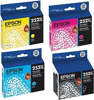 Epson T252XL120, T252XL220, T252XL320, T252XL420 High Yield Ink Cartridge Set - Epson Workforce WF-3620
