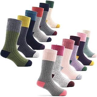 Calcetines de lana para niños, cálidos, térmicos, para invierno, 6 unidades