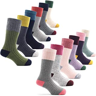 Boys Wool Socks Kids Winter Warm Thermal Crew Socks 6 Pack