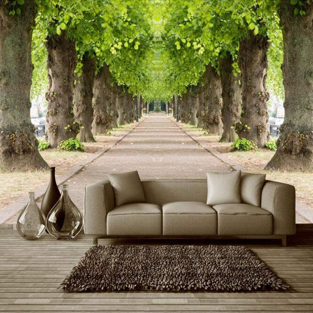 3D Natural Scenery Ultra-Cheap Deals Forest Road Photo Non-Woven Mural Custom Free shipping / New Size