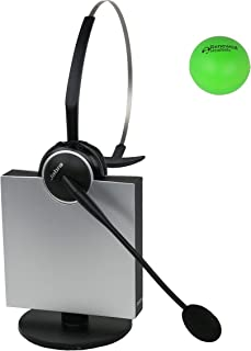 Jabra GN9125 Single Speaker Wireless Headset with Renewed Headsets Stress Ball (Renewed)