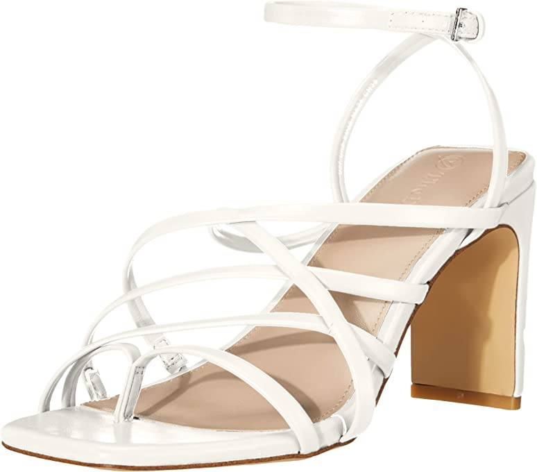 The Drop Avis Square Toe Strappy High Heeled Sandal, Heeled-Sandals Femme