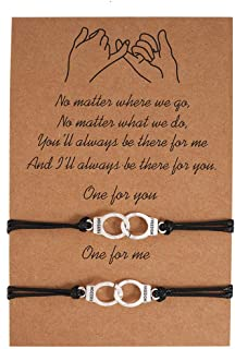 سوار معصم مزخرف مزخرف من COLORFUL BLING Partners Wish Bracelet Freedom Best Friend BFF للفتيات والأطفال والنساء أساور متطا...