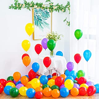 YESON 5 Inch Rainbow Balloons Assorted Color Party Latex Balloons,Pack of 120