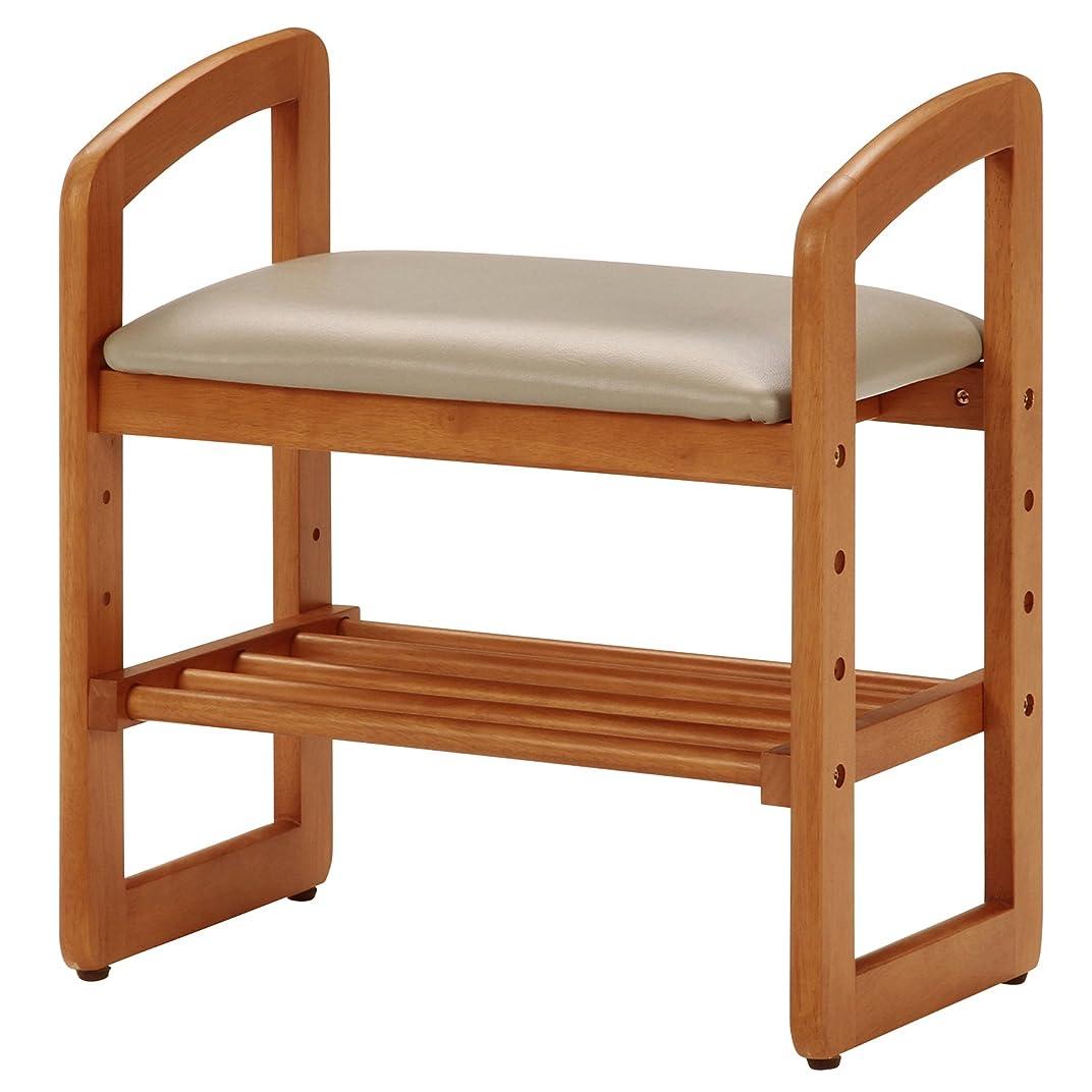 ささいなメナジェリー引退する不二貿易 玄関椅子 玄関ベンチ ナチュラル 木製 サポートチェア 95778