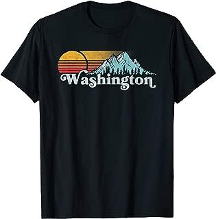 Vintage Washington State Retro Distressed Mountains Graphic T-Shirt
