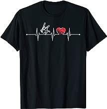 Judo Heartbeat Gift EKG Judo Player Martial Art Lover Funny T-Shirt