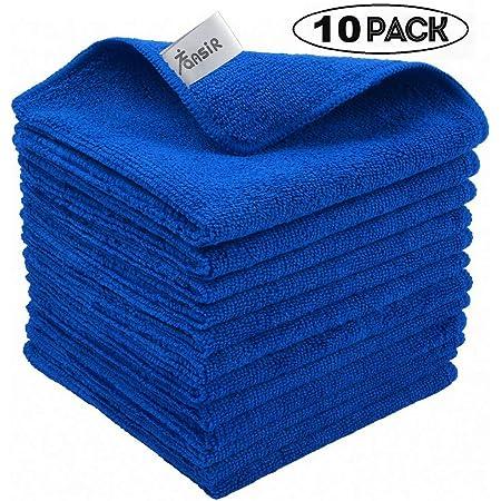 Fansir Mikrofaser Reinigungstücher Fusselfreies Superweiches Tuch Zum Polieren Waschen Wachsen Abstauben Reinigen Von Zubehör Maschinenwaschbare Dicke Handtücher 10 Stück Blau Auto