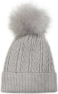 Traditionnel d/'hiver femme en polaire chaude crème Chapeau Avec Fourrure Synthétique Ras Bord
