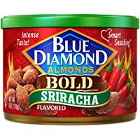 2 Pack Blue Diamond Gluten Free Almonds 6 Ounce (Bold Sriracha)