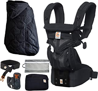 エルゴ 抱っこ紐 Ergobaby(エルゴベビー)OMNI360 クールエア 特典付き(防寒ケープ+洗濯ネット付) (ブラック)