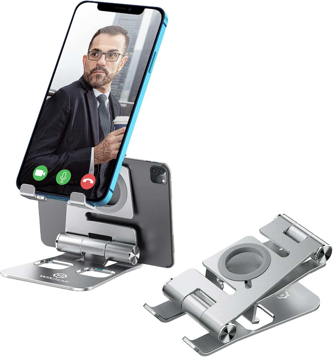 Cell Phone Tablet Stand Denver Mall WixGear 3 Aluminum Foldable Tabl Max 80% OFF 1 in