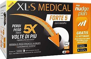 XL-S MEDICAL Forte 5 Pastiglie Dimagranti Forte, Trattamento Dimagrante con 5 Benefici in 1, App My Nudge Plan Inclusa, 18...