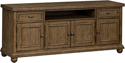 """Liberty Furniture INDUSTRIES Harvest Home TV Console, 66"""", Brown"""