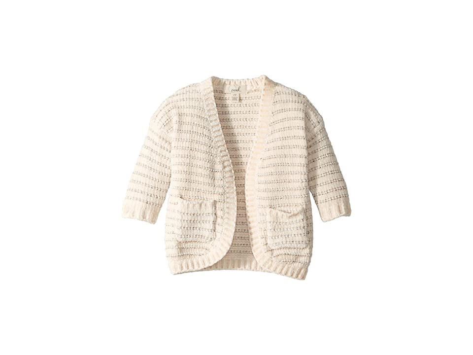 PEEK Chelsea Cardigan (Toddler/Little Kids/Big Kids) (Cream) Girl's Sweater, Beige