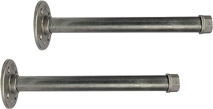 2x Natural Goods Berlin Tempelhof plankhouder, 3/4 inch ijzeren buis gietijzeren plankhouder, pijpplankdrager vintage, wan...