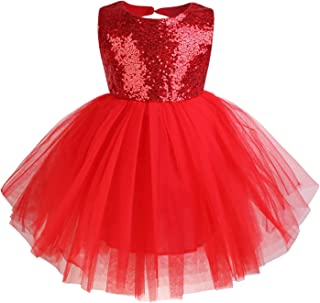 Toddler Baby Girls Dress Sleeveless Sequins Party Dresses Princess Lace Tulle Tutu Dress