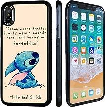 VONDER for iPhone Xs Case,iPhone X Case,Lilo and Stitch Anti-Skid Soft Rubber TPU Phone Case for iPhone Xs X Cover