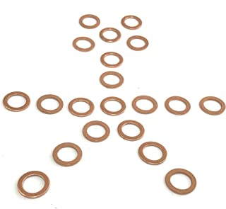 10 MM Copper Crush Washers - Pack of 20 - Fits on 10 MM Bolt