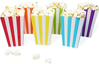 Best Mini Popcorn & Candy Favor Treat Boxes for Birthday, Bridal and Baby Shower - Polka Dot, Chevron, Striped Assorted Designs - 36 Count (Rainbow Mix) Review