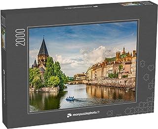 monpuzzlephoto Puzzle 2000 pièces Metz, Lorraine, Vue de la Ville du Petit Saulcy et du Temple Neuf en été - Puzzles Class...