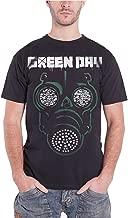 Green Day Mens T Shirt Black Green Mask Gas Band Logo Official